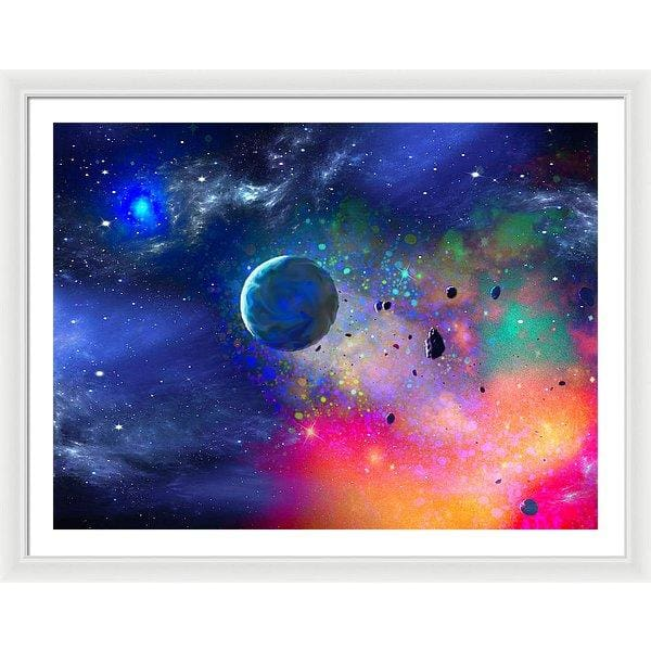 Rogue Planet - Framed Print - 40.000 x 30.000 / White / White - Framed Print