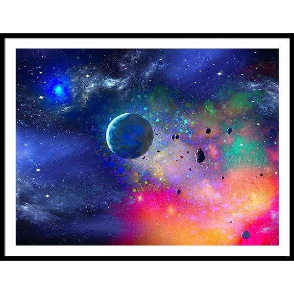 Rogue Planet - Framed Print - 48.000 x 36.000 / Black / White - Framed Print