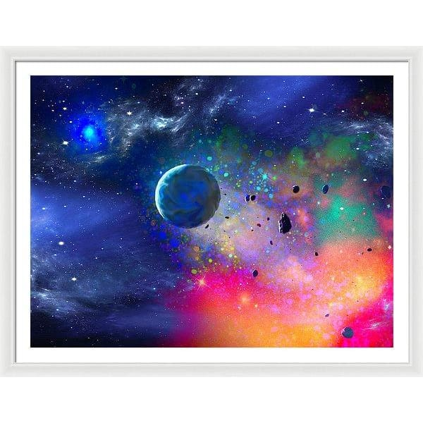 Rogue Planet - Framed Print - 48.000 x 36.000 / White / White - Framed Print