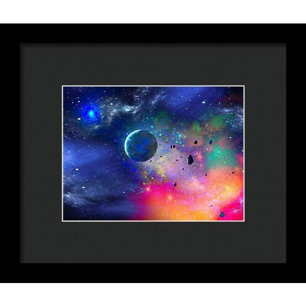 Rogue Planet - Framed Print - 8.000 x 6.000 / Black / Black - Framed Print