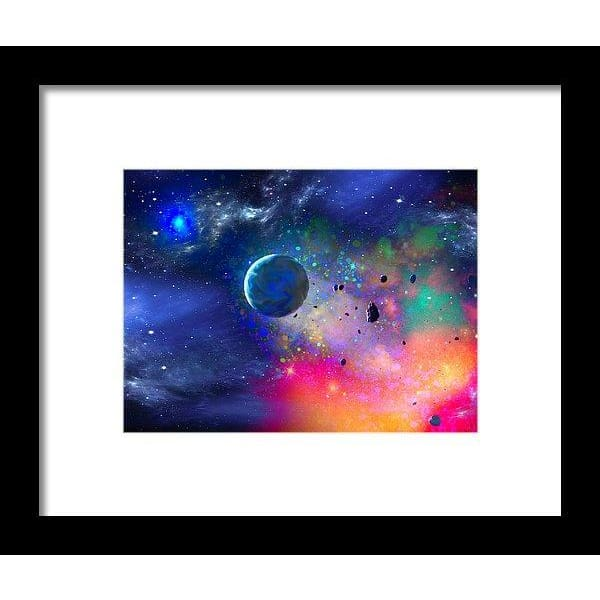 Rogue Planet - Framed Print - 8.000 x 6.000 / Black / White - Framed Print