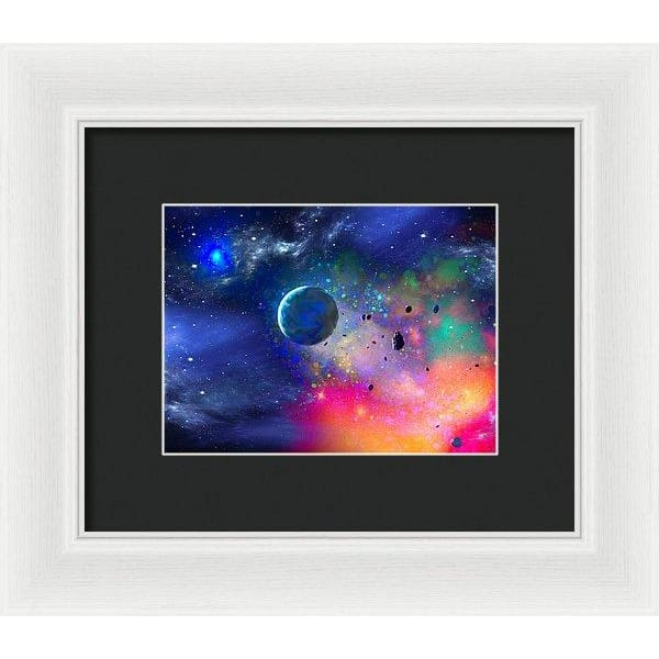 Rogue Planet - Framed Print - 8.000 x 6.000 / White / Black - Framed Print