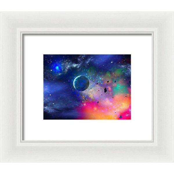 Rogue Planet - Framed Print - 8.000 x 6.000 / White / White - Framed Print