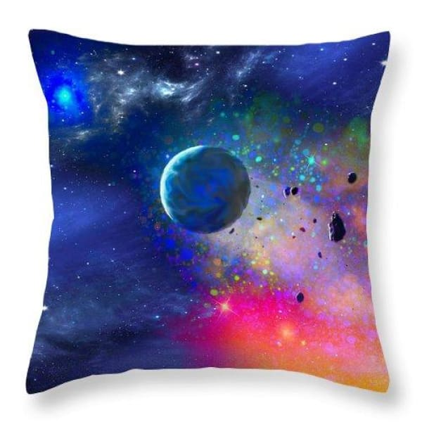 Rogue Planet - Throw Pillow - 18 x 18 / Yes - Throw Pillow