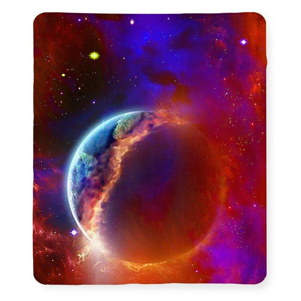 Ruptured Moon - Blanket - 50 x 60 / Sherpa Fleece - Blanket