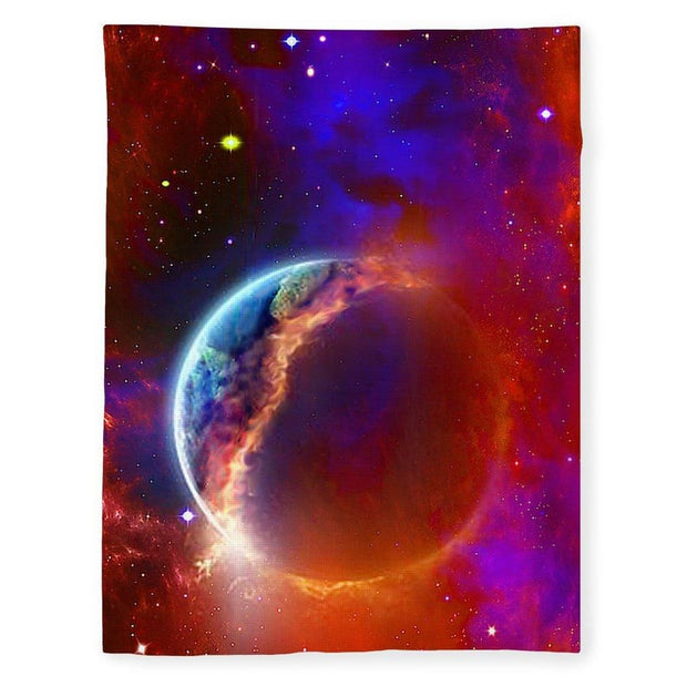 Ruptured Moon - Blanket - 60 x 80 / Plush Fleece - Blanket