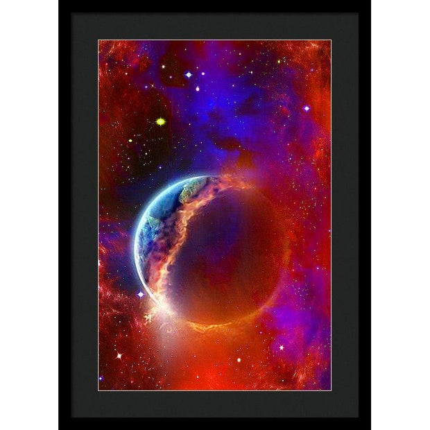 Ruptured Moon - Framed Print - 16.000 x 24.000 / Black / Black - Framed Print