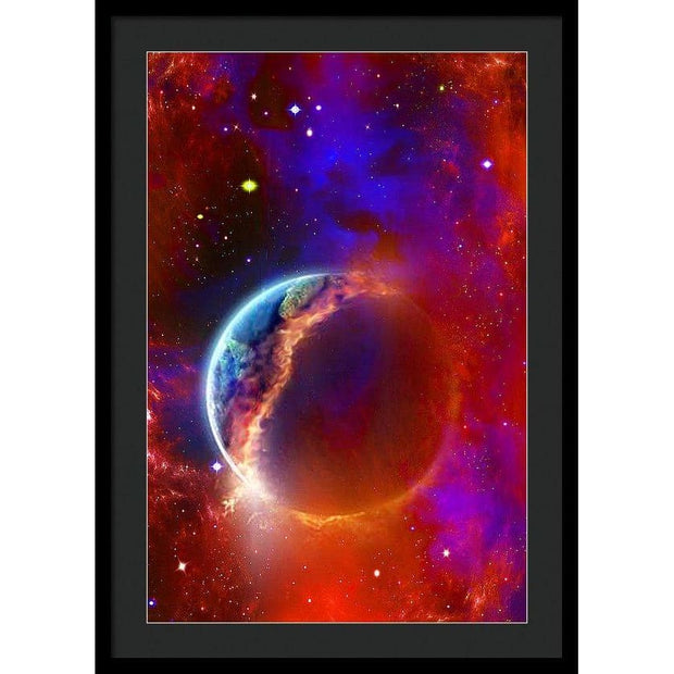 Ruptured Moon - Framed Print - 20.000 x 30.000 / Black / Black - Framed Print