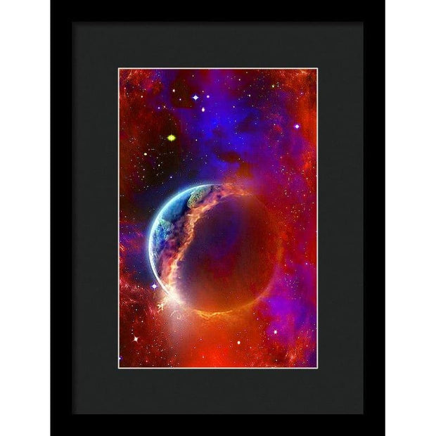Ruptured Moon - Framed Print - 8.000 x 12.000 / Black / Black - Framed Print