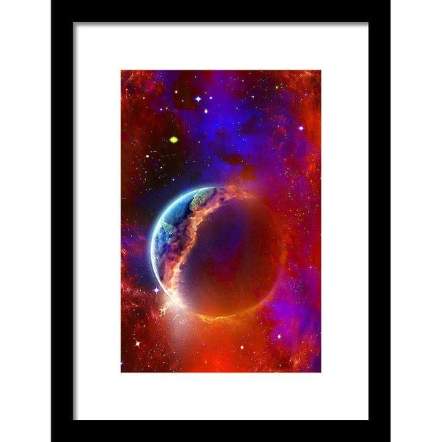 Ruptured Moon - Framed Print - 8.000 x 12.000 / Black / White - Framed Print
