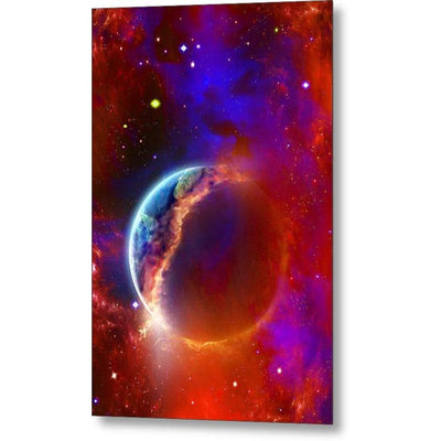 Ruptured Moon - Metal Print - 6.625 x 10.000 - Metal Print