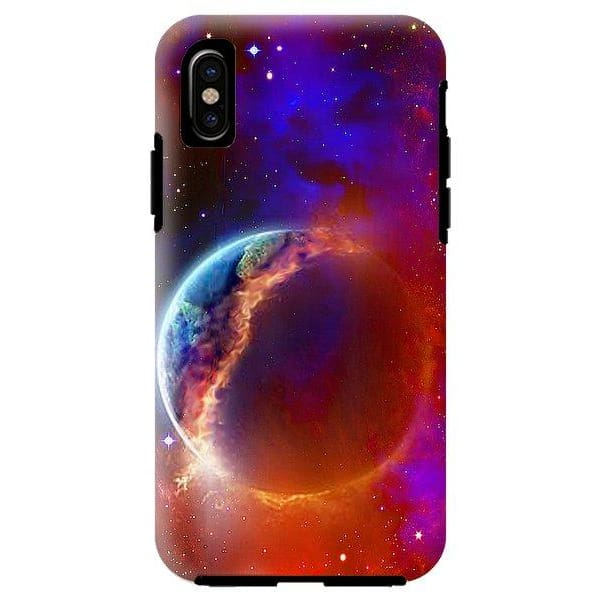 Ruptured Moon - Phone Case - IPhone X Tough Case - Phone Case