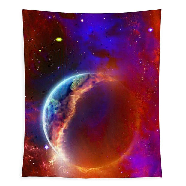 Ruptured Moon - Tapestry - 68 x 80 - Tapestry