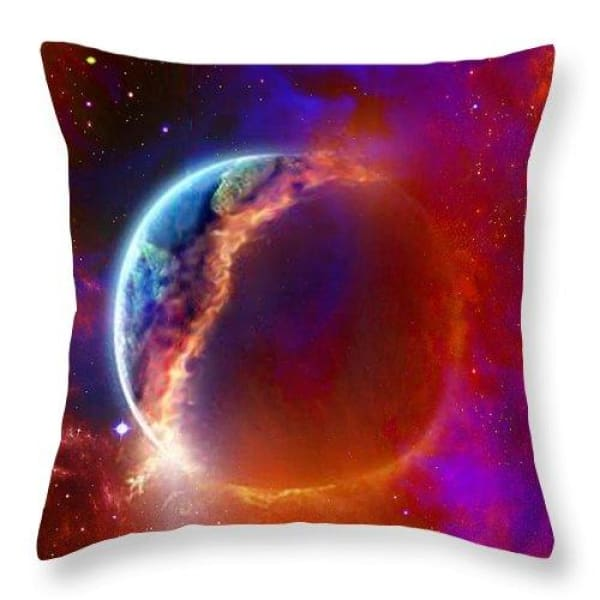 Ruptured Moon - Throw Pillow - 18 x 18 / No - Throw Pillow