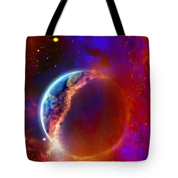 Ruptured Moon - Tote Bag - 18 x 18 - Tote Bag