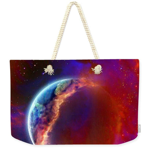Ruptured Moon - Weekender Tote Bag - 24 x 16 / Natural - Weekender Tote Bag
