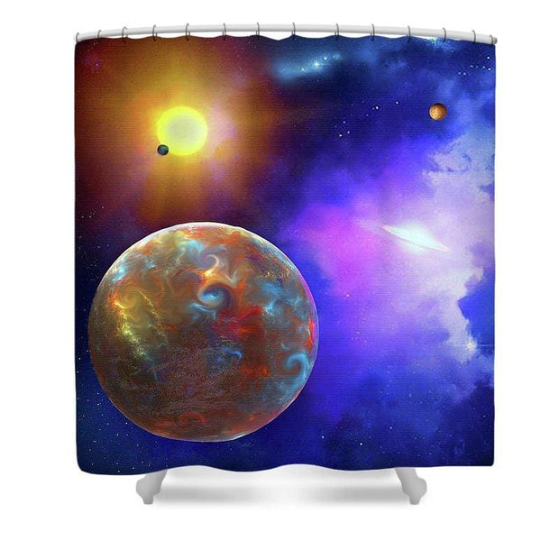 Scenic Fly-by - Shower Curtain - 71 x 74 Standard - Shower Curtain