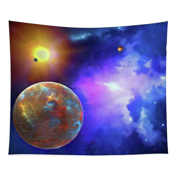Scenic Fly-by - Tapestry - 88 x 104 - Tapestry