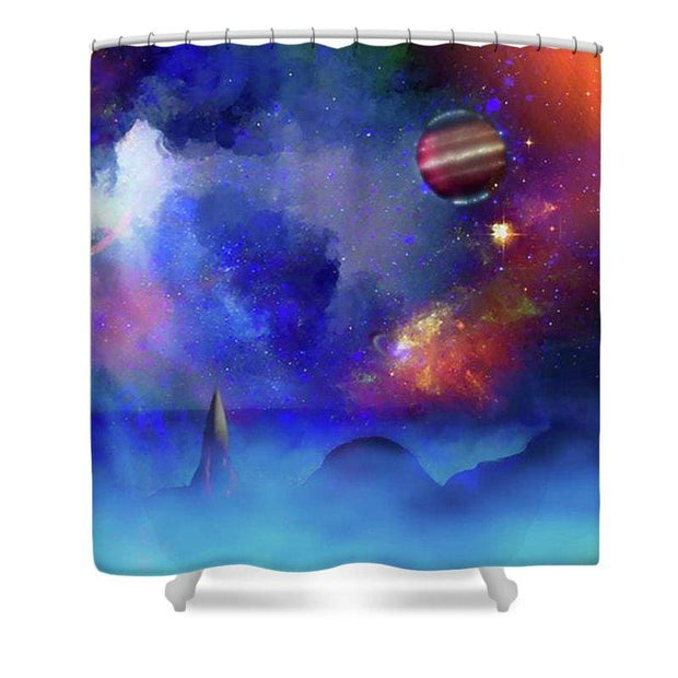 Scout Ship - Shower Curtain - 71 x 74 Standard - Shower Curtain