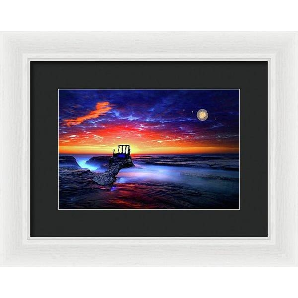Speak To The Sky - Framed Print - 12.000 x 8.000 / White / Black - Framed Print
