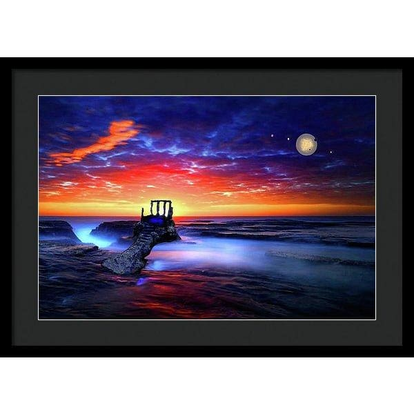 Speak To The Sky - Framed Print - 24.000 x 16.000 / Black / Black - Framed Print