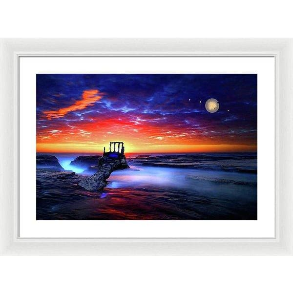 Speak To The Sky - Framed Print - 24.000 x 16.000 / White / White - Framed Print