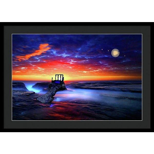Speak To The Sky - Framed Print - 30.000 x 20.000 / Black / Black - Framed Print