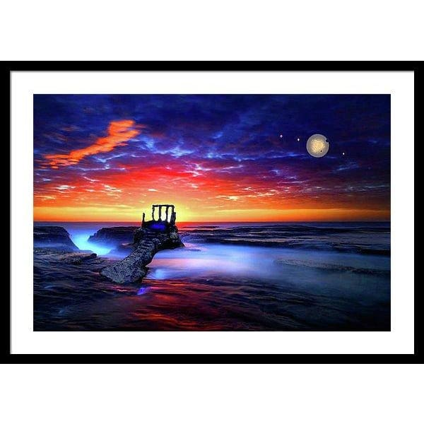 Speak To The Sky - Framed Print - 30.000 x 20.000 / Black / White - Framed Print