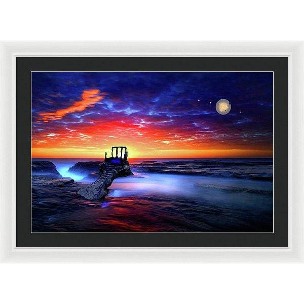 Speak To The Sky - Framed Print - 30.000 x 20.000 / White / Black - Framed Print
