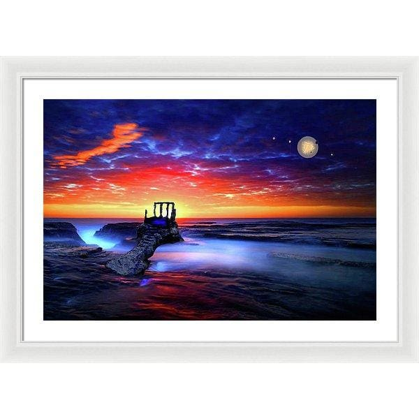 Speak To The Sky - Framed Print - 30.000 x 20.000 / White / White - Framed Print