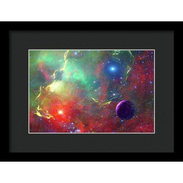 Star Factory - Framed Print - 12.000 x 8.000 / Black / Black - Framed Print