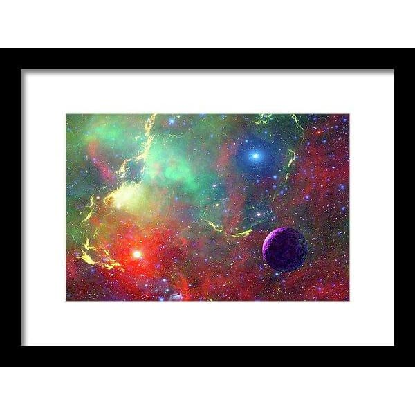 Star Factory - Framed Print - 12.000 x 8.000 / Black / White - Framed Print