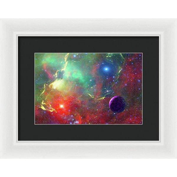 Star Factory - Framed Print - 12.000 x 8.000 / White / Black - Framed Print