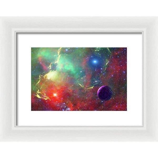 Star Factory - Framed Print - 12.000 x 8.000 / White / White - Framed Print