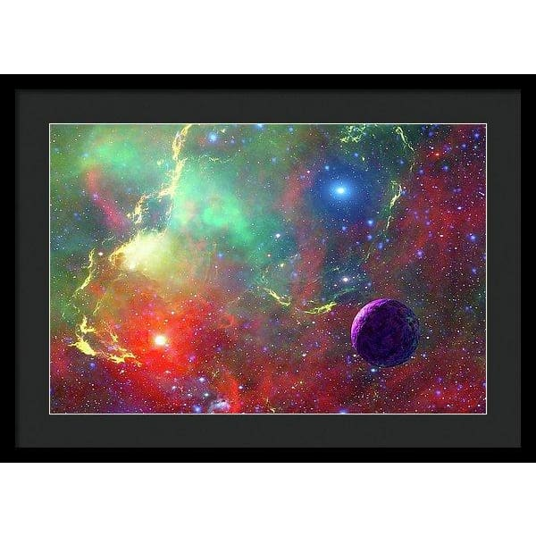 Star Factory - Framed Print - 24.000 x 16.000 / Black / Black - Framed Print