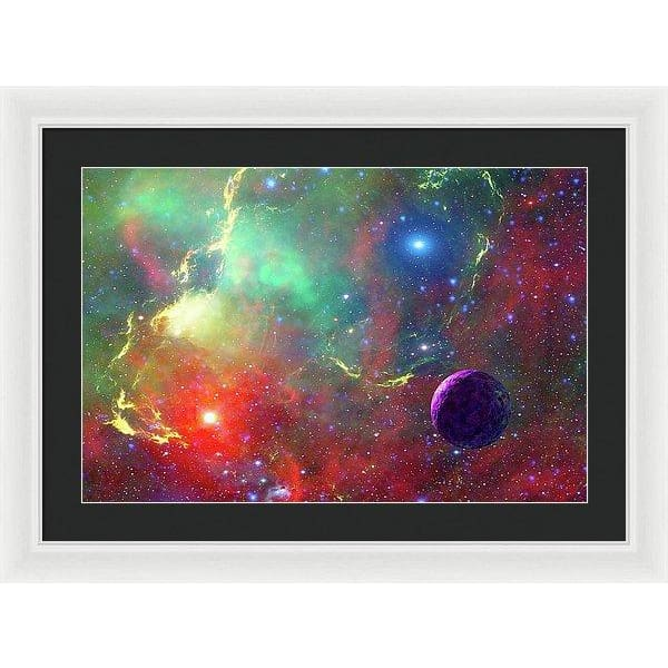 Star Factory - Framed Print - 24.000 x 16.000 / White / Black - Framed Print