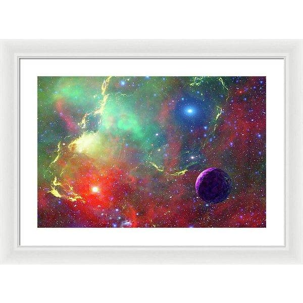 Star Factory - Framed Print - 24.000 x 16.000 / White / White - Framed Print