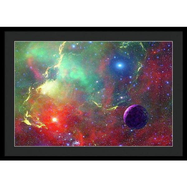 Star Factory - Framed Print - 30.000 x 20.000 / Black / Black - Framed Print