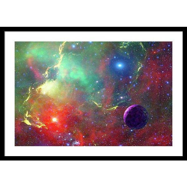 Star Factory - Framed Print - 30.000 x 20.000 / Black / White - Framed Print