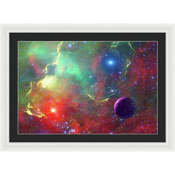 Star Factory - Framed Print - 30.000 x 20.000 / White / Black - Framed Print