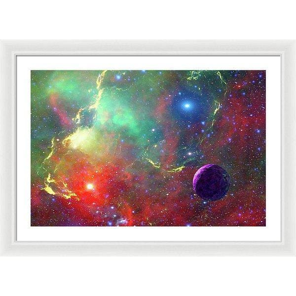 Star Factory - Framed Print - 30.000 x 20.000 / White / White - Framed Print