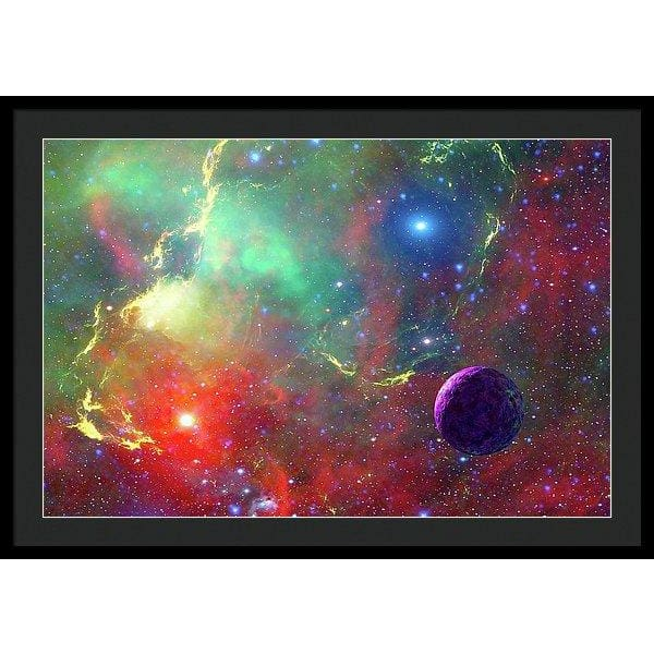 Star Factory - Framed Print - 36.000 x 24.000 / Black / Black - Framed Print