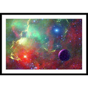 Star Factory - Framed Print - 36.000 x 24.000 / Black / White - Framed Print