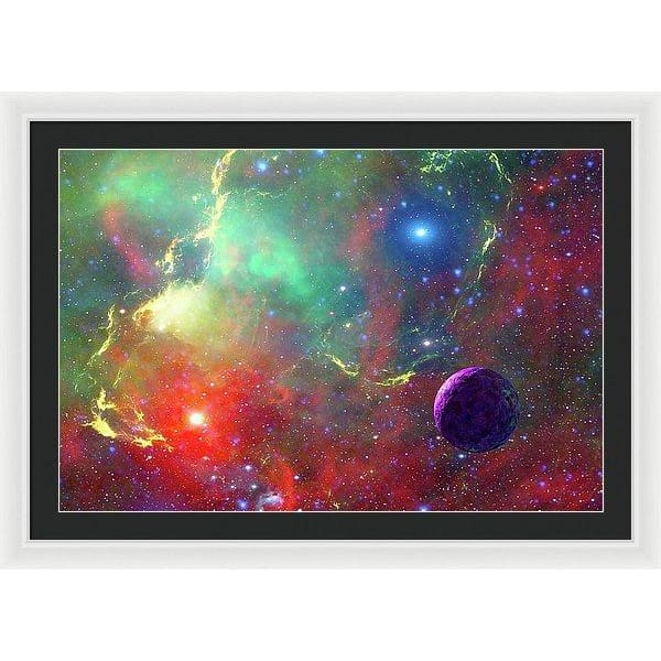 Star Factory - Framed Print - 36.000 x 24.000 / White / Black - Framed Print