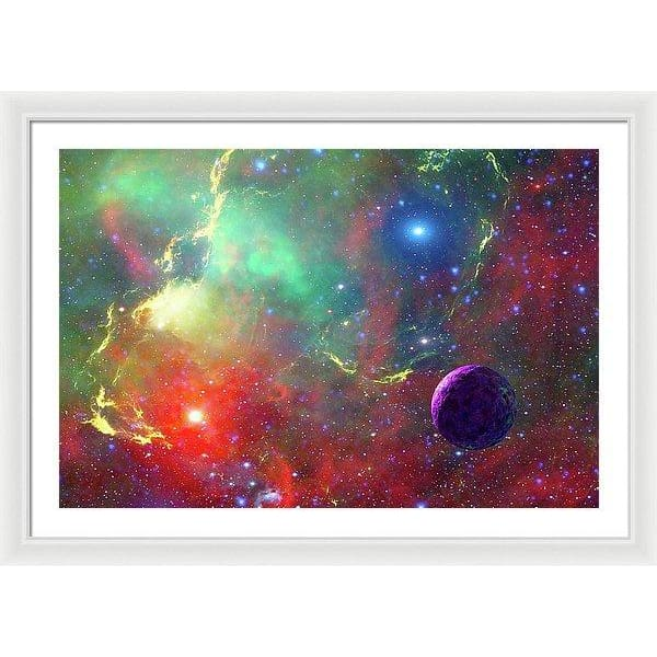 Star Factory - Framed Print - 36.000 x 24.000 / White / White - Framed Print