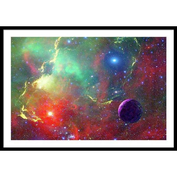 Star Factory - Framed Print - 40.000 x 26.625 / Black / White - Framed Print