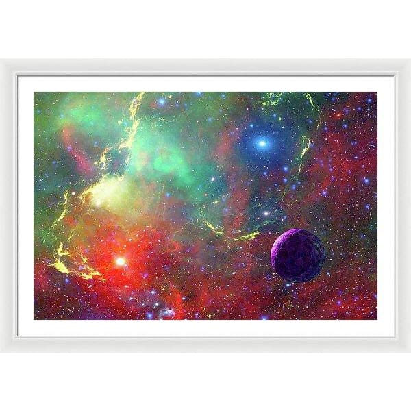 Star Factory - Framed Print - 40.000 x 26.625 / White / White - Framed Print