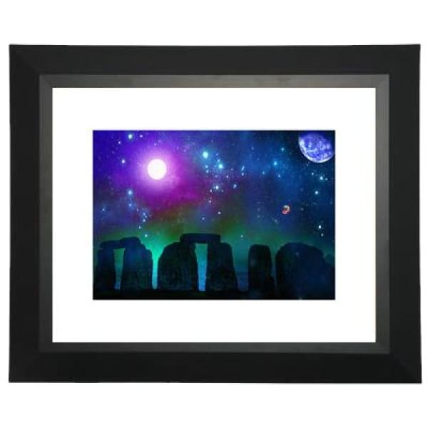 Stonebuilders Matted Print - 11 x 14 | Space Travel Art - Art Print