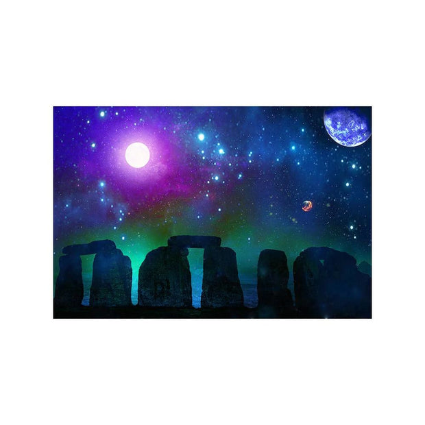 Stonebuilders Matted Print - 11 x 14 | Space Travel Art