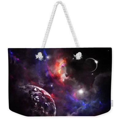 Strangers In The Night - Weekender Tote Bag - 24 x 16 / White - Weekender Tote Bag